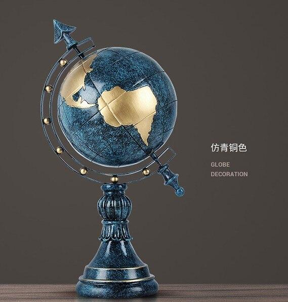 Salon créatif de style européen, décoration de globe de bureau d'armoire à vin