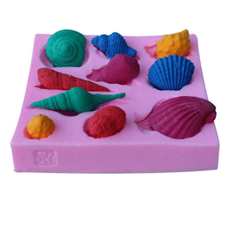 Silicone Cake Chocolate Mould Soap Jelly Moulds Cake Tools DIY Bakeware Kitchen Bake Pastry Tools Conch Shells