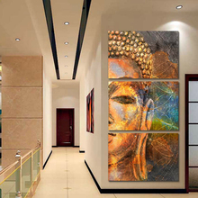 HD Print Vintage Home Decor Canvas Wall Art Abstract Artwork Golden Buddha Portrait Painting for Dining Room Wall Decor Dropship sougayilang feeder spinning fishing reel china left right reel fishing gear coil 12 1 ball bearing metal sea fishing reel peche