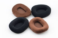 Velvet Velour OVAL Ear pads cushion replacement for ATH-M40 ATH-M50 M50X M30 M40 M35 SX1 M50 M50S ATH Headphones