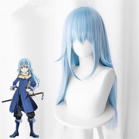 That Time I Got Reincarnated as a Slime Cosplay Wig Rimuru Tempest Long Blue Hair Role Play Tensei shitara Slime Datta Ken