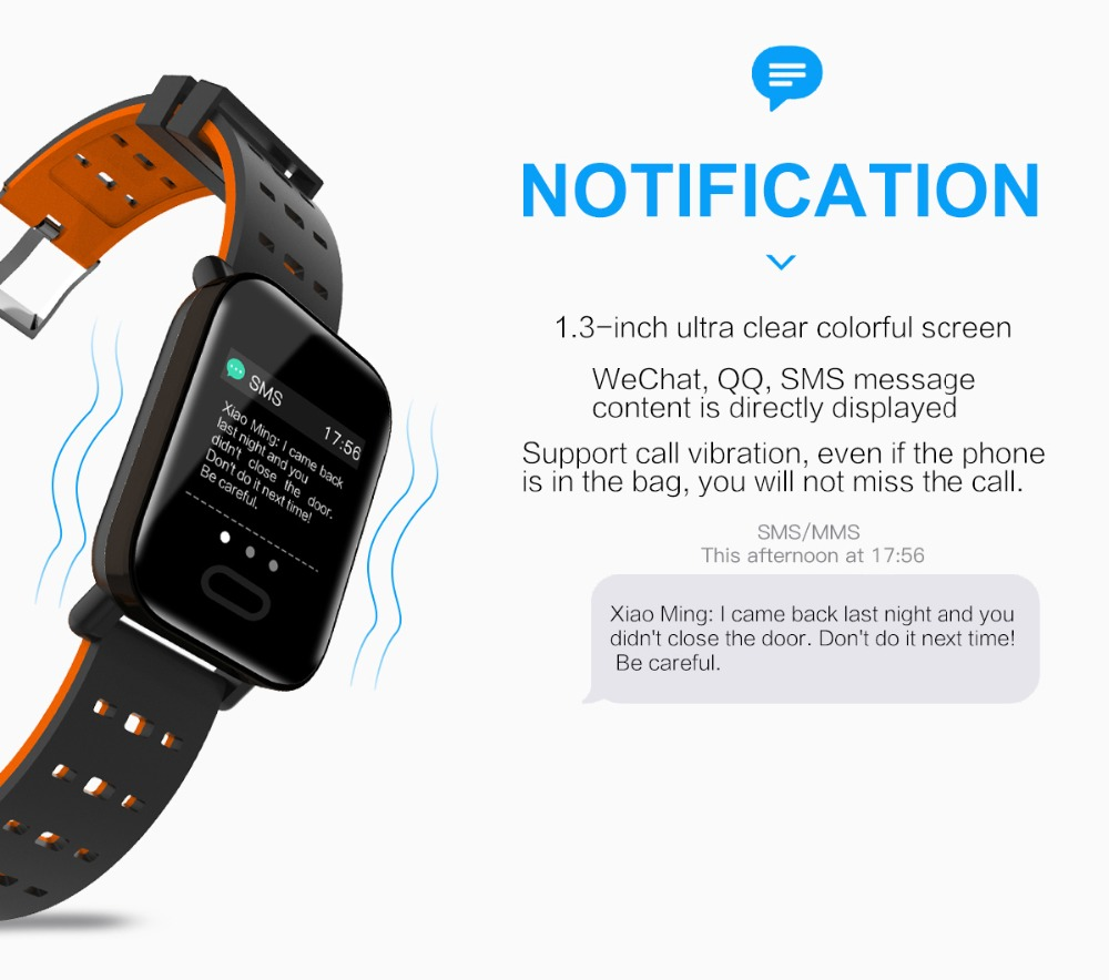Q6 Smartwatch IP67 Waterproof Wearable Device Bluetooth Pedometer Heart Rate Monitor Color Display Smart Watch For AndroidIOS (8)