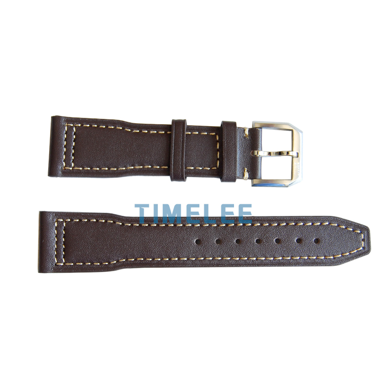 22 mm Watchbands Strap Genuine Leather Watch Band for IWC Bracelets with Stainless steel Buckle