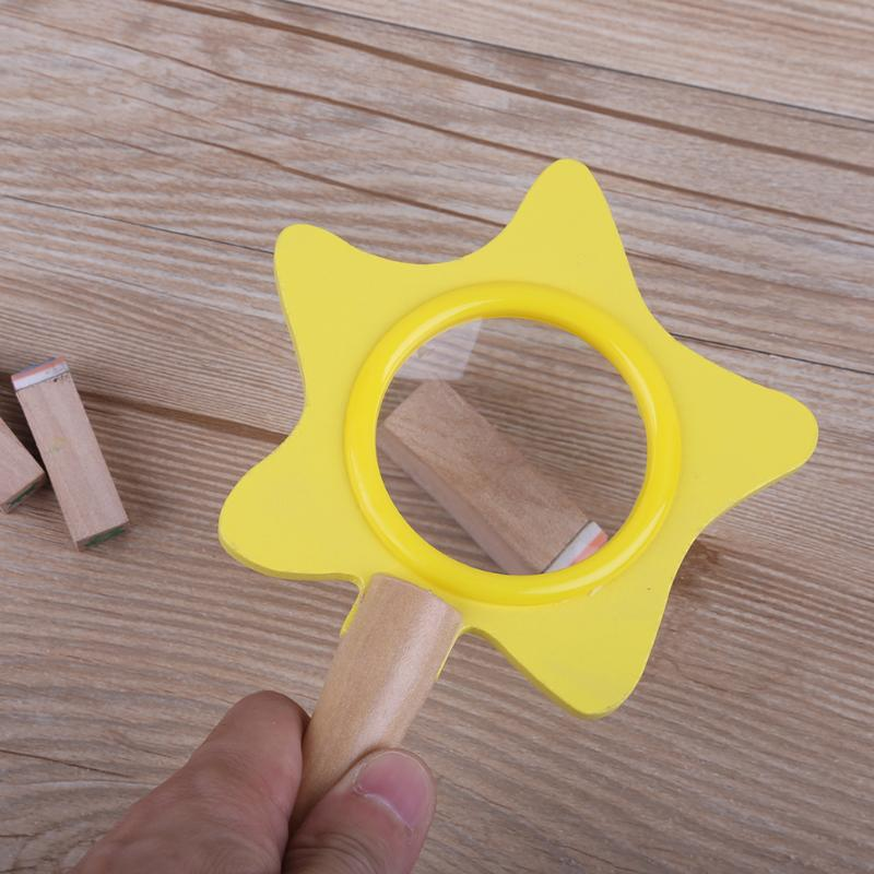 HD Magnifier Insect Children Scientific Toy Flower-Shaped Teaching Tool Teaching Learning Developmental Funny Toys