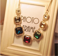 2015 Elegant Max Colar Feminino Ethnic Bohemian Imitation Gemstone Necklace Collares Mujer Boho Jewlery PN003