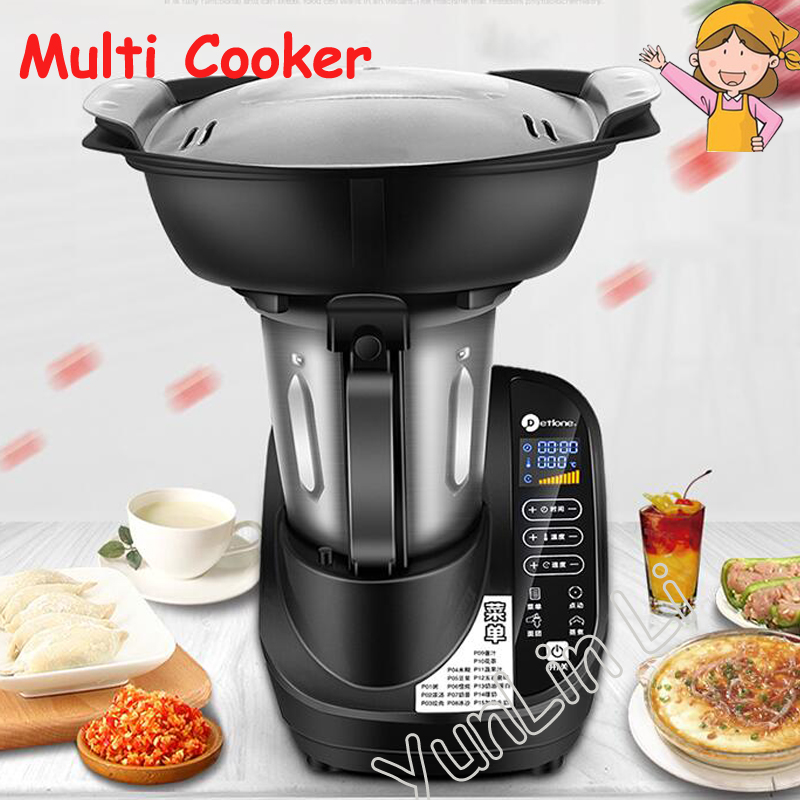 High Speed Blender Multi-functional Food Cooking Machine Juicer Dough Kneading Heating Home Automatic Mixing Machine DTL-01