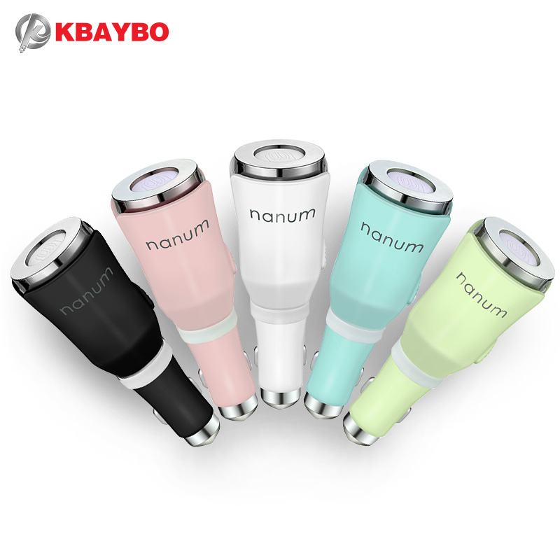Car Aroma Humidifier Car Aromatherapy Mist Diffuser Aroma Essential Oil Diffuser With Dual Power USB Car Charger 5-Color Select