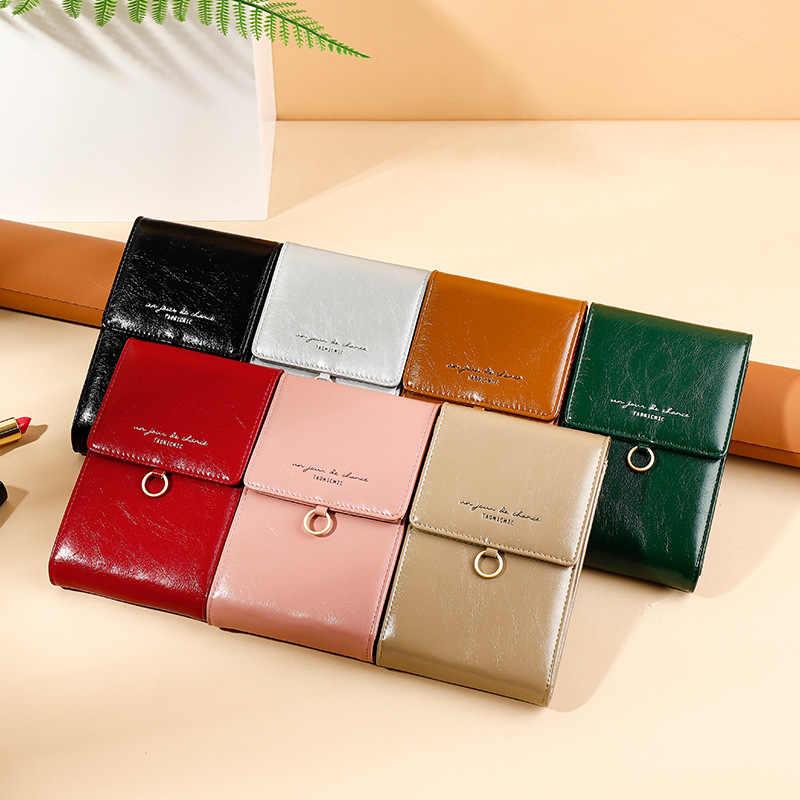 Luxe Vrouwen Telefoon Tas Lederen Mini Zomer Schoudertassen Dames Portemonnees Crossbody Bag Fashion Brand Vrouwelijke Portefeuilles