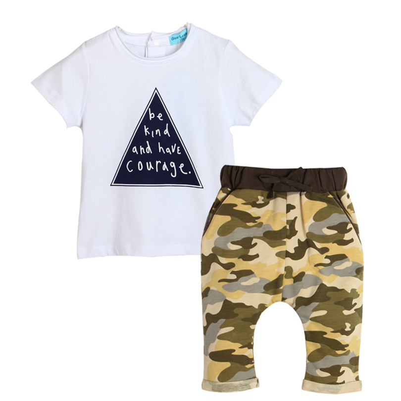 d7483cbb5 2018 summer style baby boy Letter clothes fashion baby girl clothing set  casual pentagram printed t