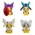 4 Kinds Option Pokemon Plush Toys ,23 CM Pikachu Cosplay Animal Dolls Children Toys ,Cut Plush Toys For  Kids Gift