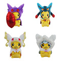 4 Tipos De Opciones de Pokemon Juguetes de Peluche, 23 CM Pikachu Cosplay Animal Muñecas Juguetes de Los Niños, Cut Peluches Para Regalo de Los Cabritos