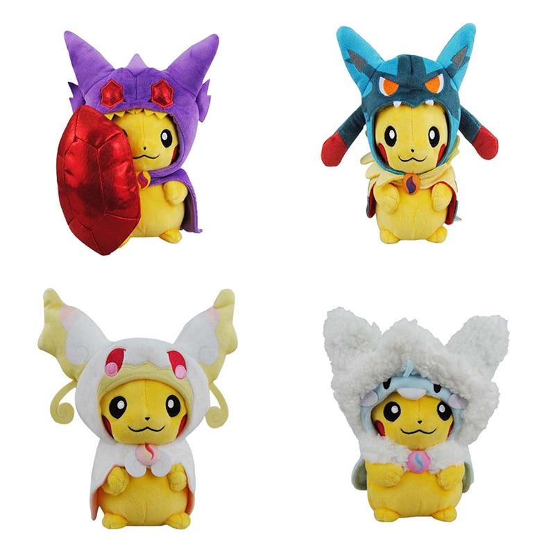 5 Kinds Option Baby Plush Toys ,23 CM Pikachu Cosplay Animal Dolls Children Toys ,Cut Plush Toys For Kids Gift