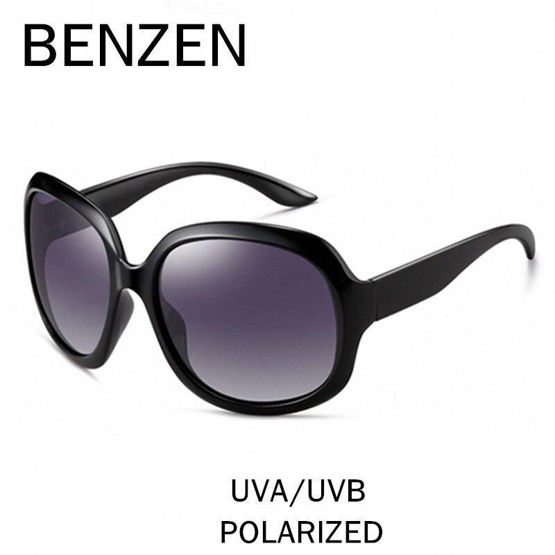BENCENO gafas de Sol de Las Mujeres Polarizadas UV 400 gafas de Sol de Gran Tamaño de La Vendimia Femenina Gafas de Sol Sombras Con El Caso 6088