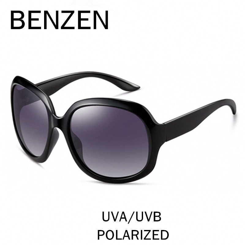 BENZEN Sunglasses Women Polarized UV 400 Oversized Vintage Sunglasses Female Sun Glasses Shades With Case 6088