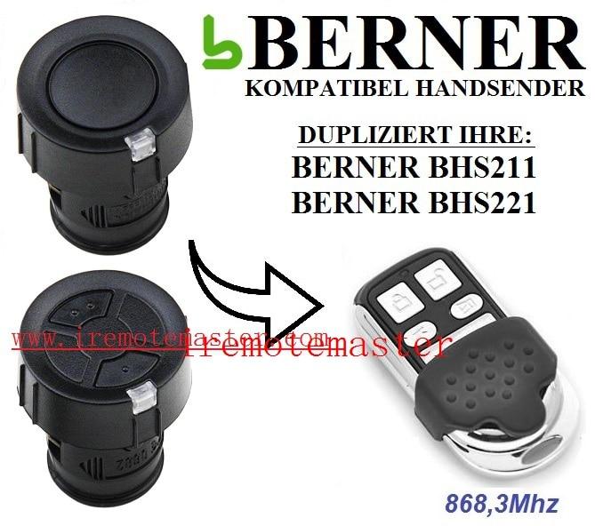 BERNER BHS211,BHS221 garage door remote control replacement