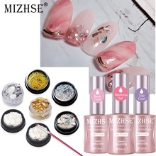 MIZHSE UV Gel Nagellak Top Base Coat Versterking Red Nail Vloeibare Vernis Shell Stuk Nail Pen Nail Gitter Sets nail kits(China)