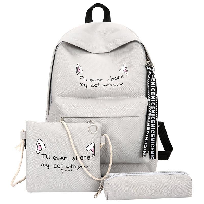 Fashion Women Backpack set casual Backpacks Girls School Bags Nylon Backpack Travel Bag Female Backpack Mochila Satchel SACFashion Women Backpack set casual Backpacks Girls School Bags Nylon Backpack Travel Bag Female Backpack Mochila Satchel SAC