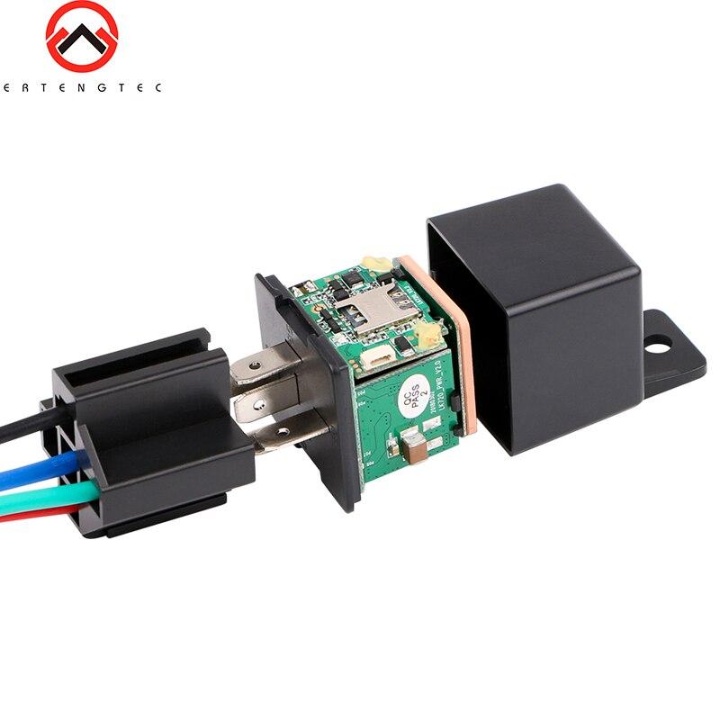 Mobil Relay GPS Tracker Car Shock Alarm GPS GSM Locator Pelacakan Perangkat Remote Control Anti-Theft Pemantauan Memotong minyak Power