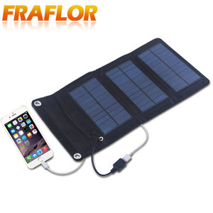 Image 2 - 5.5V 5W Portable Folding Solar Panel Charger Battery Charger USB Output With Build in voltage Controller Pack for Phones PSP MP4