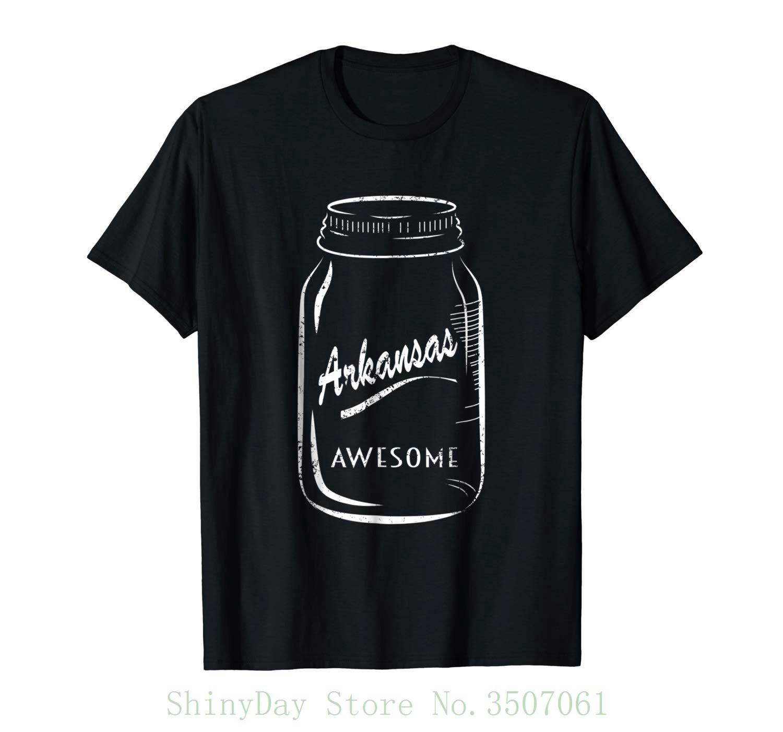 Cute Mason Jar Shirt Arkansas Shirt Awesome Shirt Round Neck Best Selling Male Natural Cotton Shirt