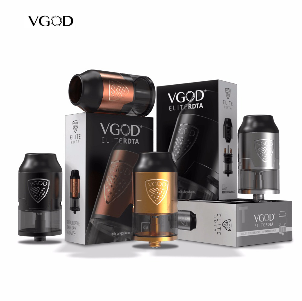 D'origine VGOD Elite RDTA Réservoir 24mm Reconstructible Dripping 510 fit elite pro mech Mod Kit Vaporisateur Cigarette Électronique