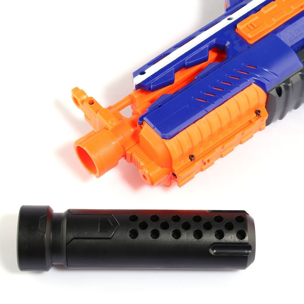 18cm Long Decoration Muffer Silencer Modified Front Tube Decoration For Nerf Matte Black