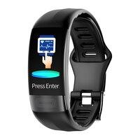 P11 Smart Wristband sport fitness tracker pedometer bracelet Heart Rate blood pressure health ECG Monitor HRV report smartband