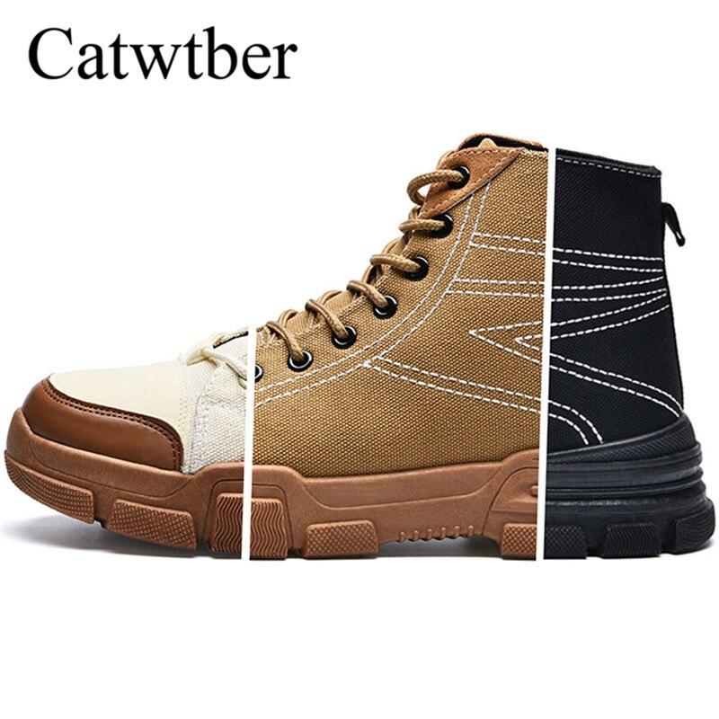 Air Automne black Bottes Mode Catwtber En De brown Nouveau Pour Plein Toile Printemps Respirant Chaussures 2018 Cuir Hommes Casual Marche Beige atxzxCnq