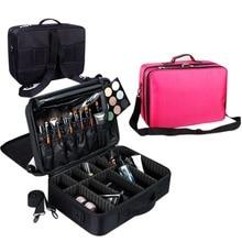 Multilayer Large Capacity Makeup Bag High Quality Women Travel Storage Organizer Makeup Tools Brush Professional Cosmetic Case