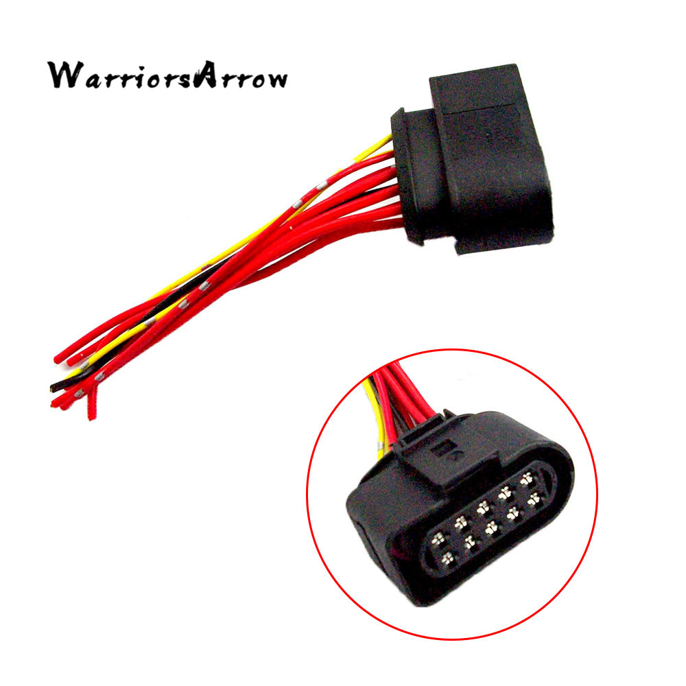 Warriorsarrow 10 Pin Headlight Wiring Adapter Plug Passenger Side 1988 Honda Accord For Vw Eos Golf Jetta Passat Audi A4 A6 A8 Rs6 1j0973735 In Car Switches Relays From