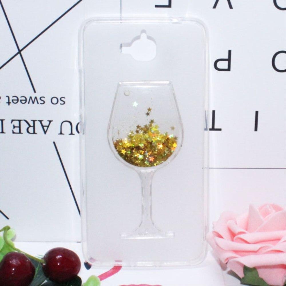 3D жидкость зыбучие пески Bling вина Стекло Телефонные Чехлы для Huawei <font><b>Honor</b></font> <font><b>4C</b></font> Pro/наслаждаться 5/Y6 Pro 5&#8243; горный хрусталь Телефонные Чехлы принципиальн&#8230;