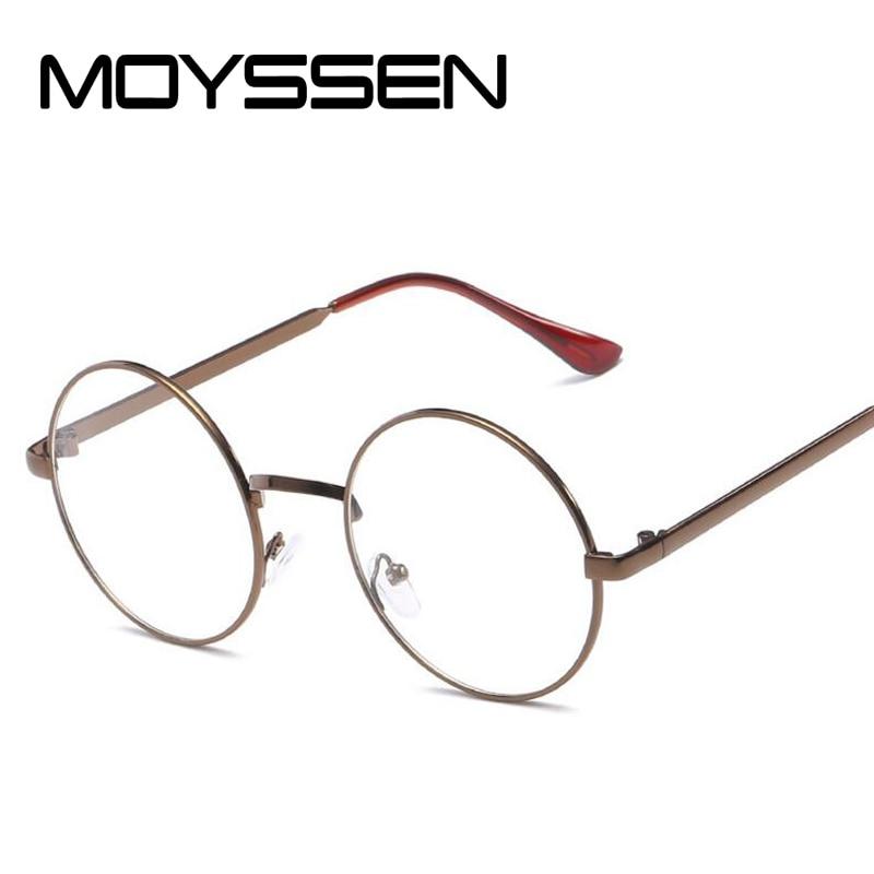 0e50dbccdd2 Detail Feedback Questions about MOYSSEN Fashion Men s Retro Round Metal  Eyeglasses Frame Women Decorative Geek Myopia Glasses Steve Eyewear Plain  Mirror on ...