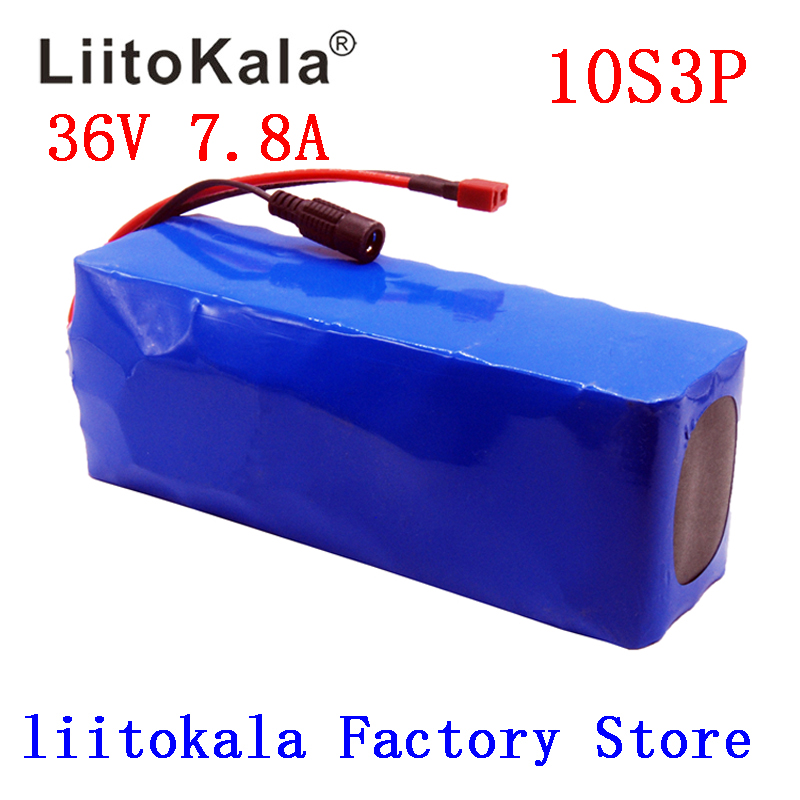 LiitoKala 36V 7 8Ah 500w 18650 Rechargeable battery pack modified Bicycles electric vehicle 36V Protection with