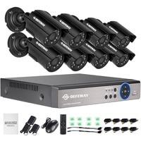 HD 1080p 960H 8Ch 800TVL CCTV Video Surveillance System Onvif IP NVR DVR Kit Home Security