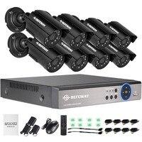 DEFEWAY 1200TVL 720P HD наружного видеонаблюдения Камера Системы 8 канальный 1080N HDMI CCTV DVR комплект 8CH AHD Камера комплект
