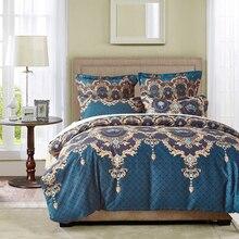 2017 Bohemian Bed Duvet Cover Set Luxury European Comforter Bedding Sets Floral Pattern Reversible Bedding Set King Size