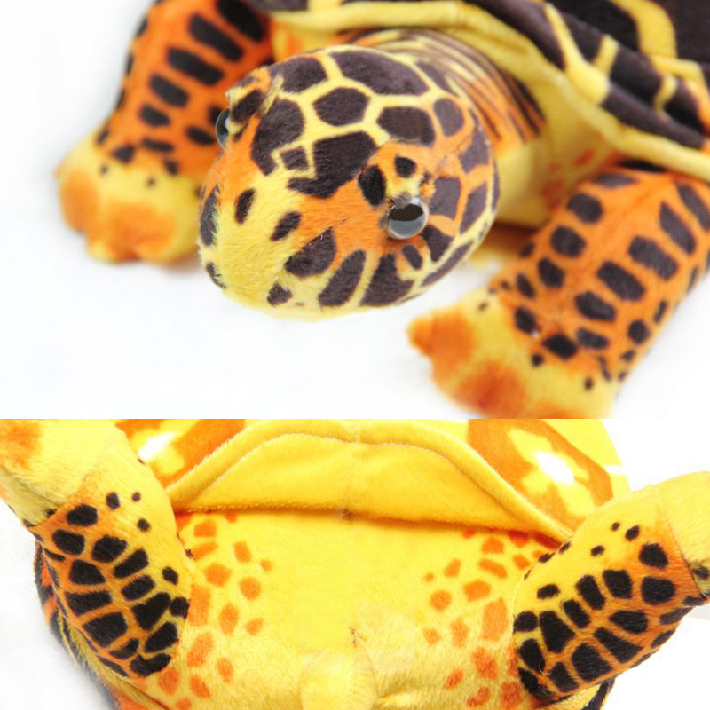 Cartoon Plush Turtle Marine Organism Hi-Q Geochelone Radiata Turtles Staffed Animal Dolls Soft Toys for Kids Boys Girls