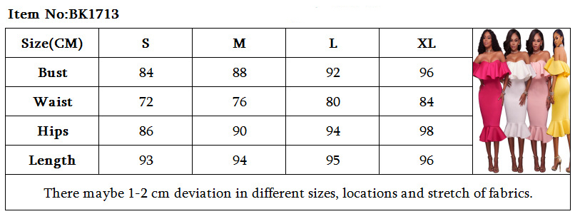 European big size women 39 s dress explosion lotus leaf sexy word shoulder dress Explosive ruffled sexy word shoulder autumn dress in Dresses from Women 39 s Clothing