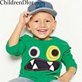 Camisa dos miúdos T Meninos Marca Encabeça 2017 Marca de Moda Bebê Menino T camisa de Manga Longa de Algodão Roupa Dos Miúdos Meninos e Meninas da Camisa de T 1-6 T