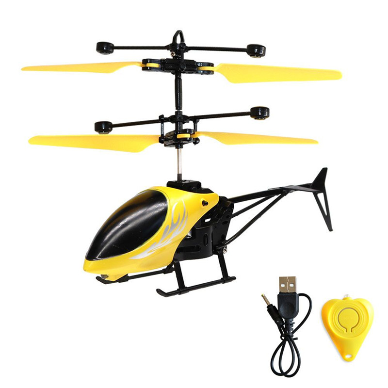 Kids Toys Mini Helicopter Remote Control RC Drone Flash Light Induction Aircraft Gift -17 S7JN global drone 2ch remote control spaceman helicopter induction aircraft toy helicopter drone indoor children gift toys