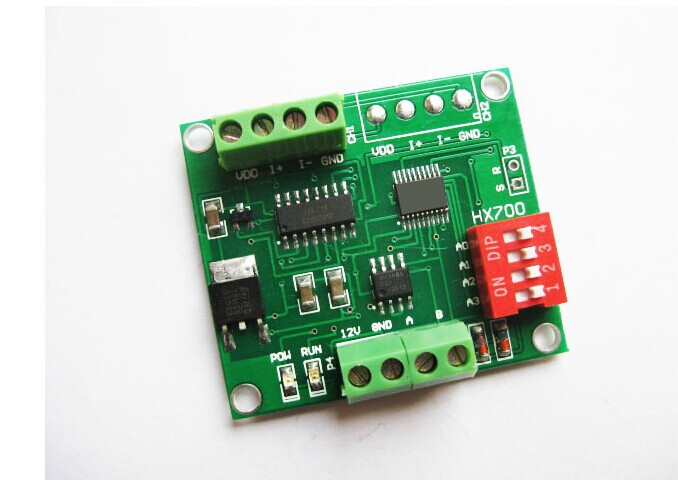 цена на HX700-RS485 Weighing sensor dedicated AD module load 24 bits analog-to-digital conversion 485 communication module