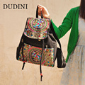 DUDINI National Wind Handmade Fashion Canvas Bag High Quality Travel Bags Flower Embroidery Ethnic Backpacks Designer Women Bags