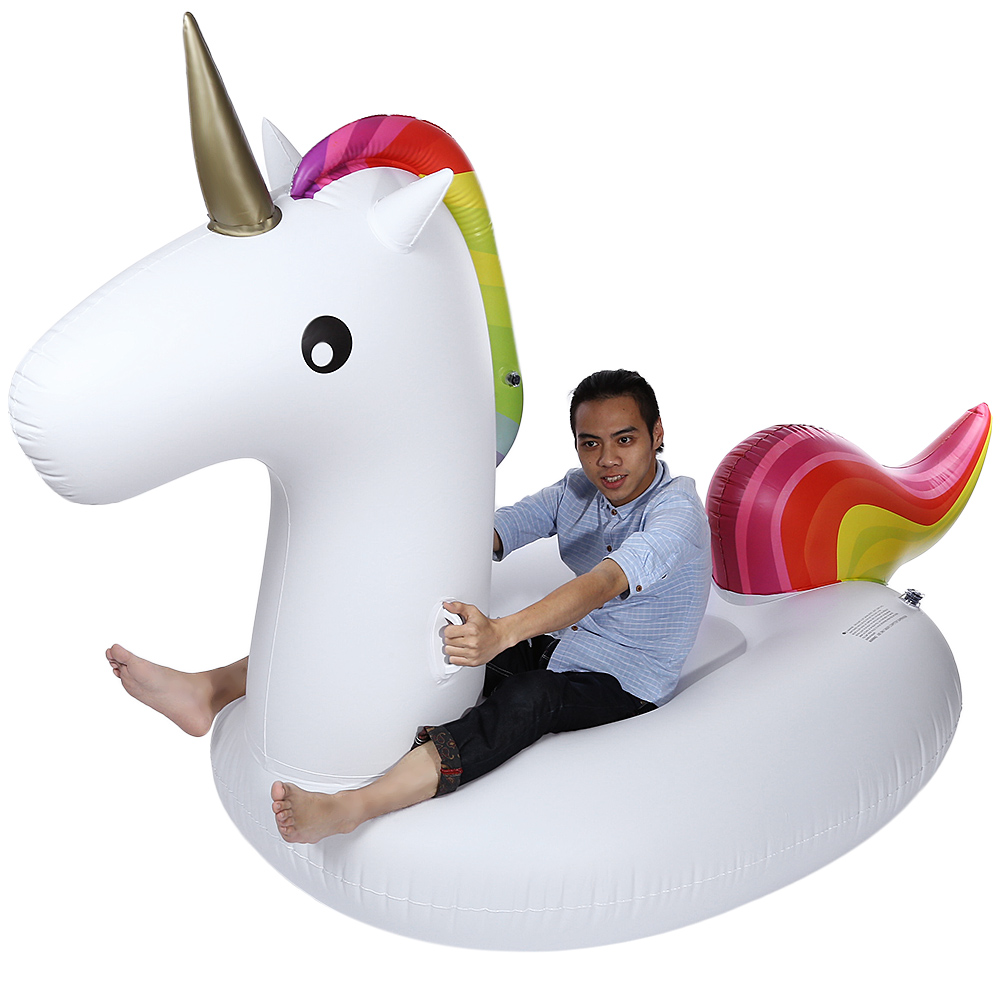 Hot Sales Swimming Water Lounge Pool Giant Rideable Unicorn Inflatable Float Toy Inflatable Ride-Ons Swimming Inflatable Unicorn mymei white summer lake swimming water pool kids rideable swan inflatable float toy