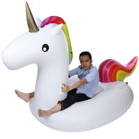 Hot Sales Swimming Water Lounge Pool Giant Rideable Unicorn Inflatable Float Toy Inflatable Ride Ons Swimming Inflatable Unicorn