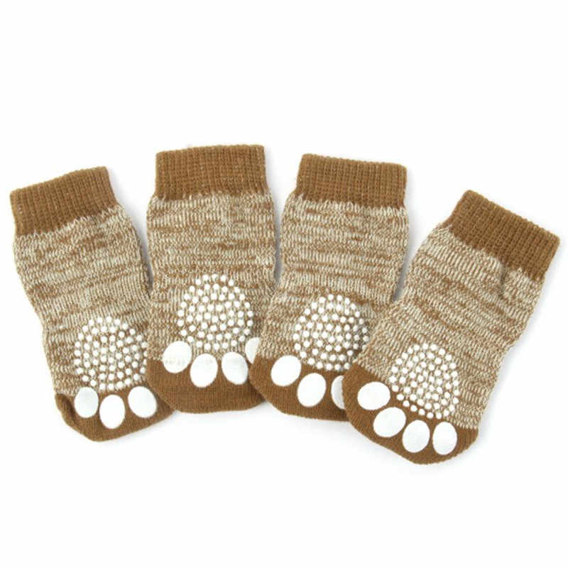4 stks/set Katoen Hond Meias Leuke Panda Beer Hond Huisdier Antislip Bottom Sokken Schoen Puppy Cat Warm Sok S-XL