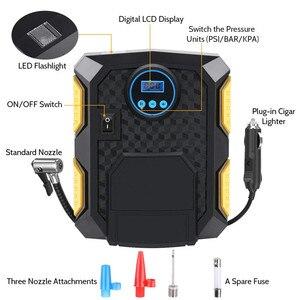 Image 2 - Pneu de carro inflator digital compressor de ar portátil 12v bomba pneu elétrico inflação para carro motocicleta