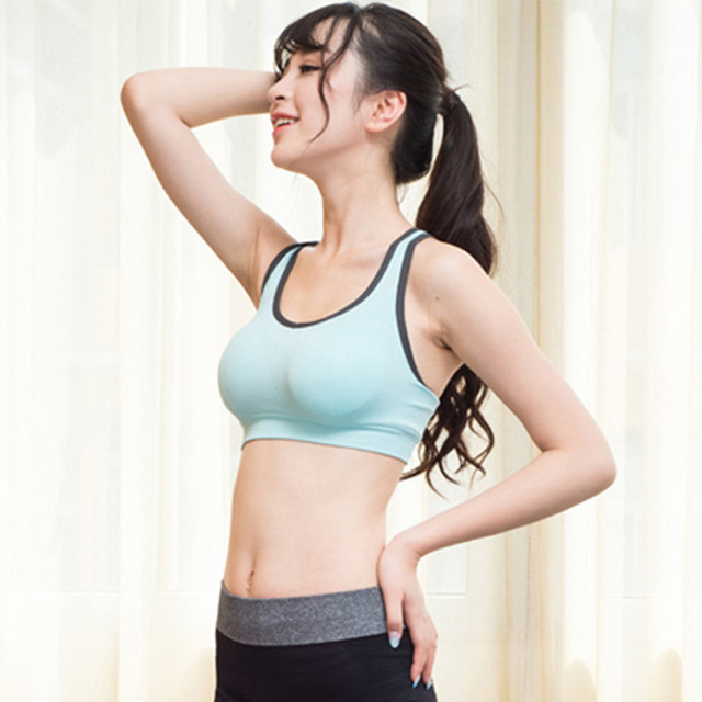 9ec73e2ae7 HOT Professional women sports bras gym lady running fitness exercise quick-drying  underwear training dancing Shockproof vest