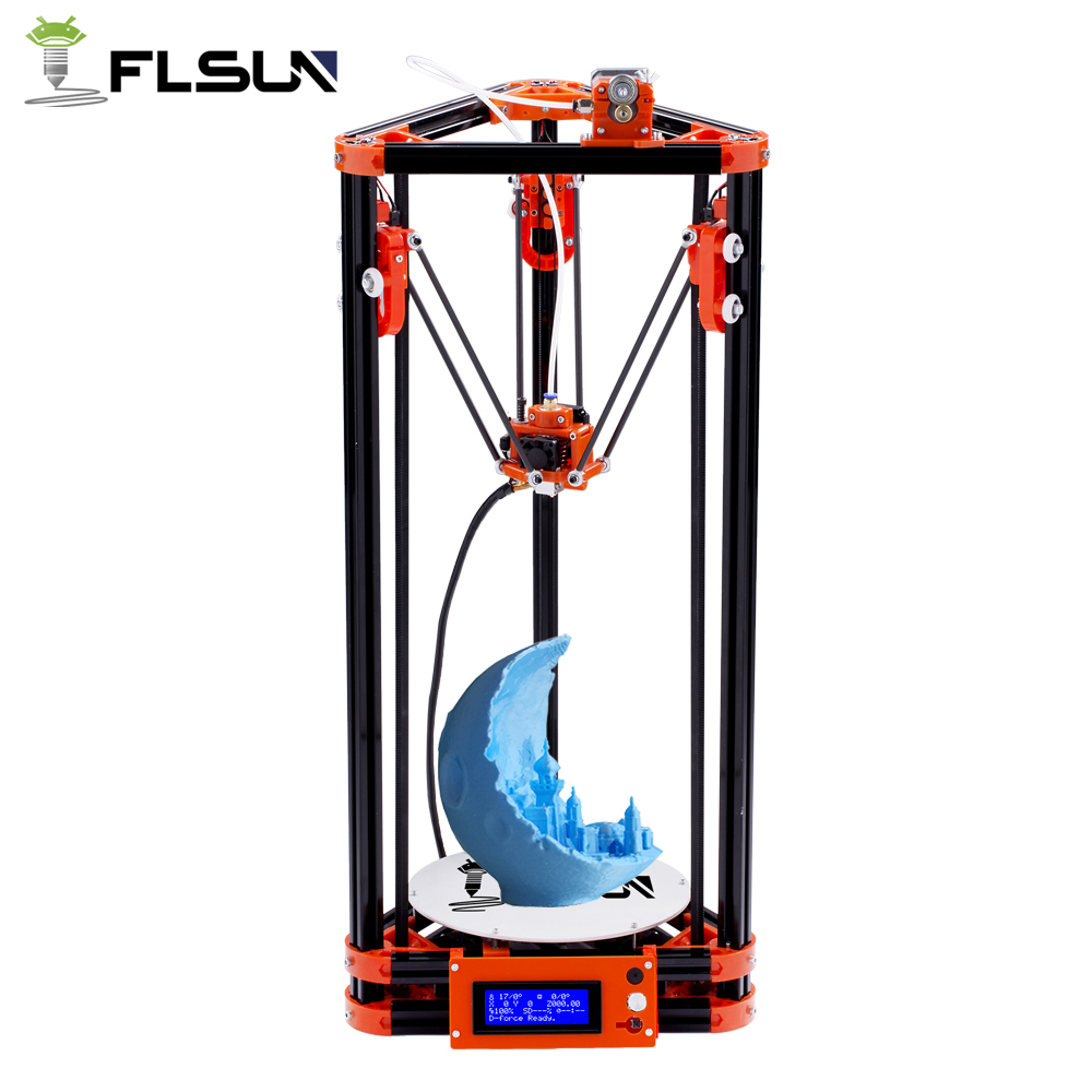 Flsun Delta 3D Printer Kit Printing Area 180*180*315mm With Heated Bed Auto Leveling One Roll PLA Filament все цены