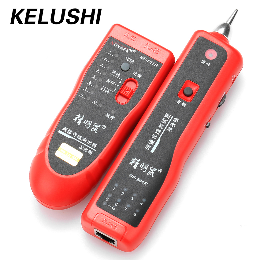 Kelushi кабель Finder nf-801r многоцелевой сети lan кабель Tracker Провода тонер открытым Tracer Тестер красный Поддержка RJ-11 RJ-45