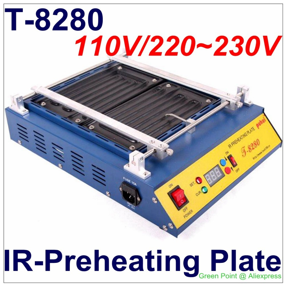 PUHUI T 8280 IR Preheating Plate T8280 Preheat Oven T 8280 Infrared Preheating Station FOR PCB